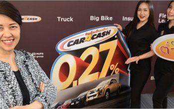Car 4 Cash ปล่อยแคมเปญดอกเบี้ยขั้นต่ำ 0.27% ตั้งเป้าครึ่งปีแรก 12,000 ล้าน