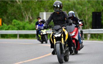 Yamaha จัดกิจกรรมทดลองขี่มอเตอร์ไซค์ในกลุ่ม 155 ซีซี