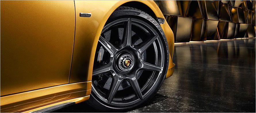 Porsche เปิดตัวล้อ braided carbon fibre สำหรับ 911 Turbo S