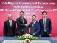 SAIC Motor-CP และ True ลงนาม MOU พัฒนาโครงการ Intelligent Connected Ecosystem